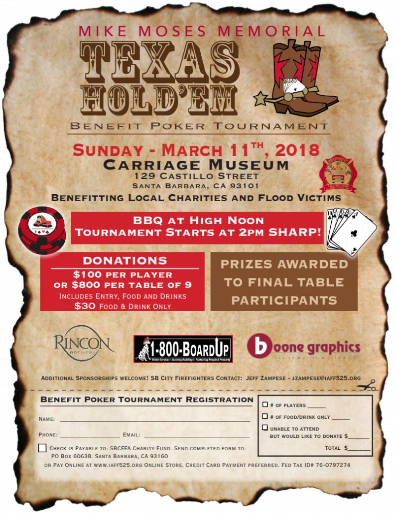 SBFD - Charity Poker Tournament @ Santa Barbara | California | United States