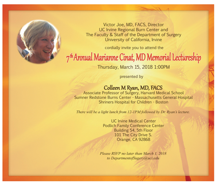 7th Marianne Cinat Memorial Lecture @ Podlich Conference Center | Orange | California | United States