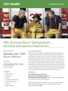 UCI Health 4th Annual Burn Symposium @ UC Irvine Student Center | Irvine | California | United States